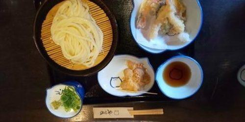 伊丹のらや天ぷらセット冷うどん