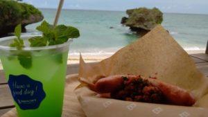 バンタカフェ海辺のテラス食べ物
