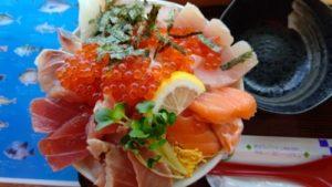大ばんぶる舞日替わり定食海鮮丼アップ