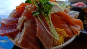 大ばんぶる舞日替わり定食海鮮丼ズーム