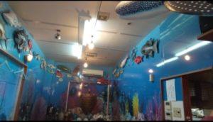 魚屋直営食堂魚まる店内