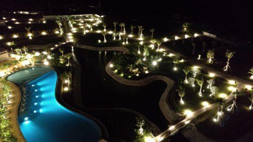 ヒルトン瀬底リゾート夜